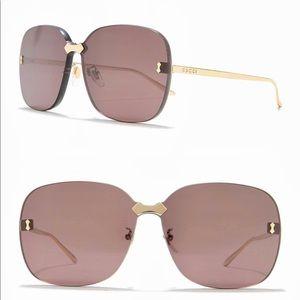 Gucci Square rimless sunglasses